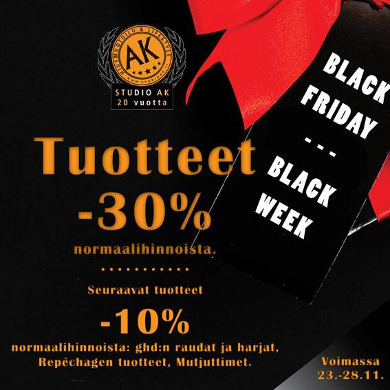 Black Friday - tuotteet -30%