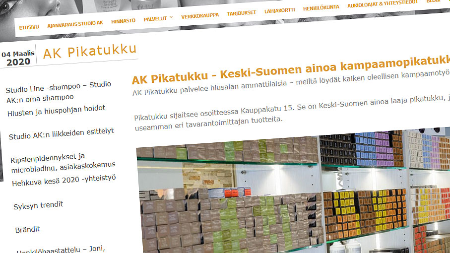Studio AK:n blogissa on esitelty esim. hiusalan ammattilaisten pikatukkua