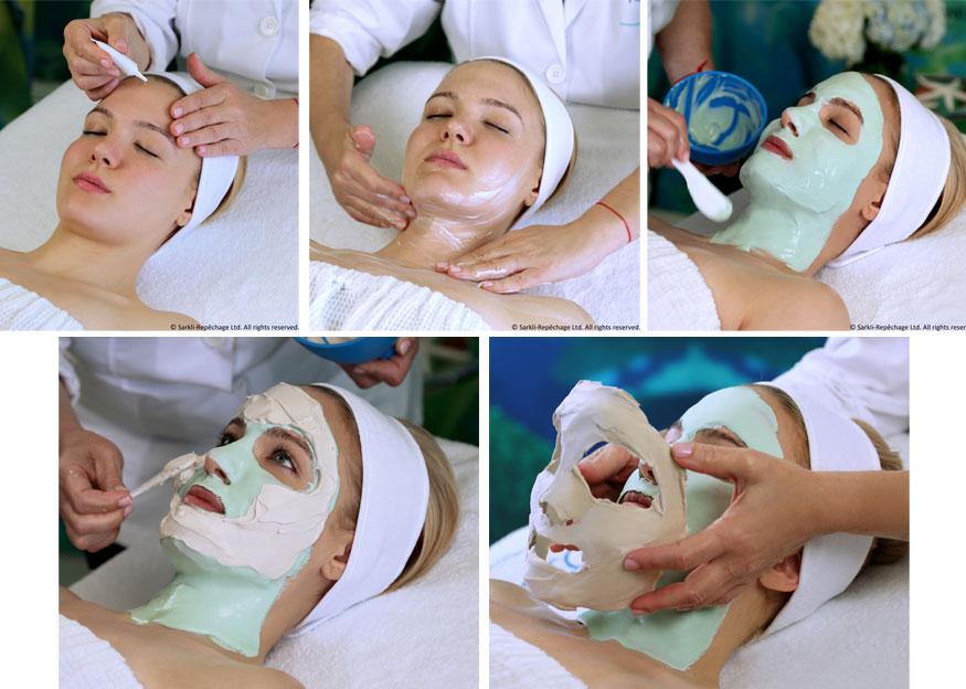 Four Layer Facial -kasvohoito tehdään Repêchagen tuotteilla
