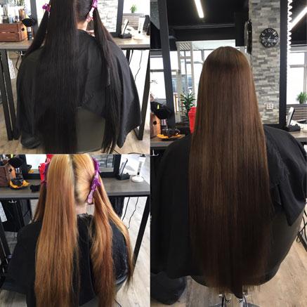 Tummien hiusten vaalentaminen