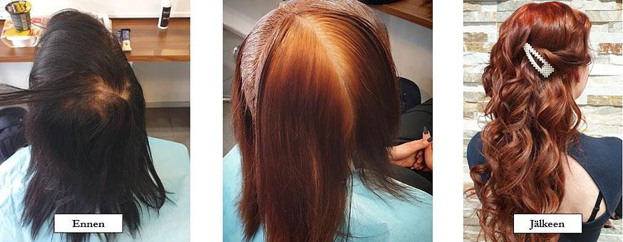 Tummien hiusten vaalentamisprojekti
