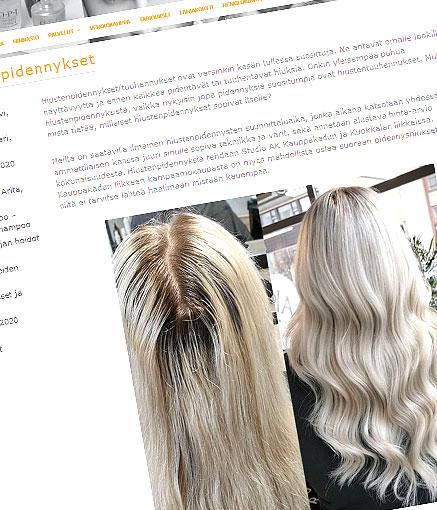 Studio AK:n blogissa on paljon tietoa hiustenpidennyksistä