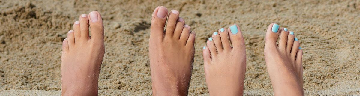 Jalkojenhoitoa hemmotteluun ja ongelmajaloille
