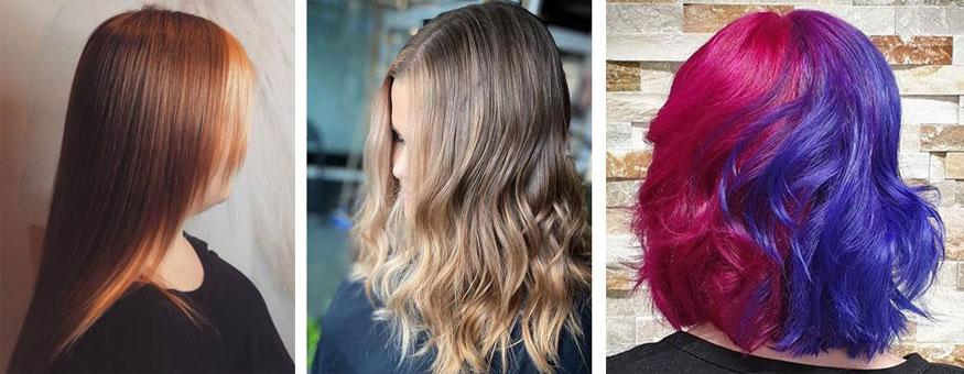 Hiusten kevättrendeihin kuuluu palkkiraidat ja toiselta puolelta eri väriseksi värjätyt hiukset
