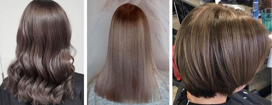 Yksi hiusten kevättrendeistä on jäinen ruskea