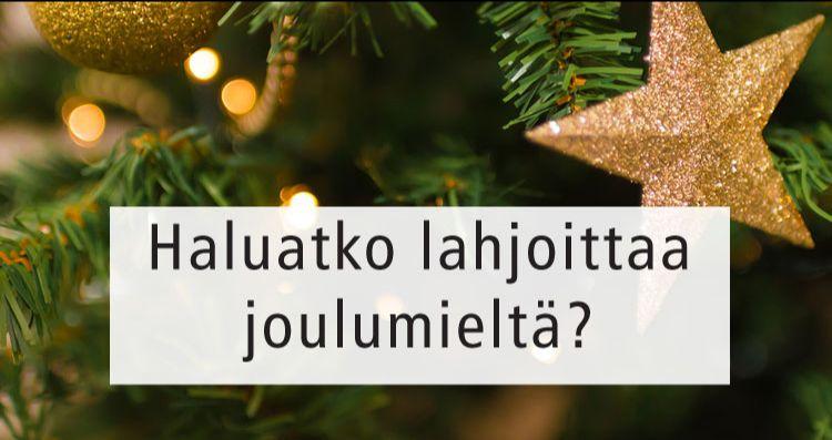 Lahjoita joulumieltä Studio AK:n keräyksen avulla