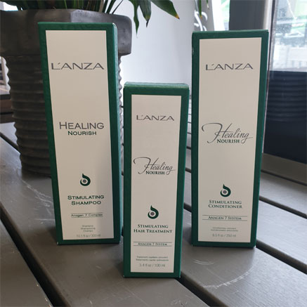 L'anzalta löytyy esimerkiksi hiuspohjan ongelmista kärsiville Healing Nourish -tuotteita