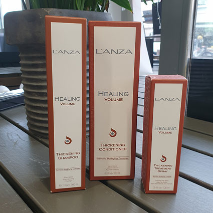 Lanzan Healing Volume -tuotteet löydät Jyväskylän kampaamokaupasta.