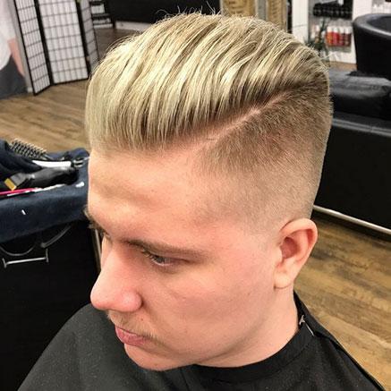 Suosittu miesten hiustenleikkausmalli on Fade Haircut