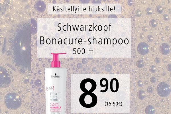 Schwarzkopf Bonacure shampoo käsitellyille hiuksille