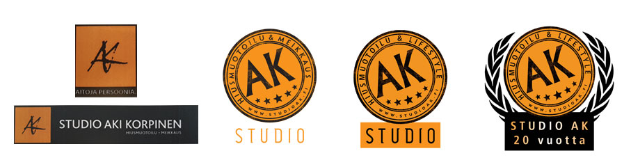 Studio AK logojen historiaa