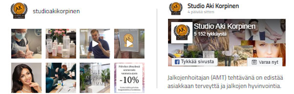 Studio AK:n sosiaalinen media