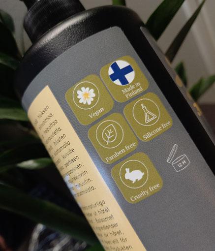 Studio Line -tuotteet ovat mm. vegaanisia, parabeenittomia ja eläinkokeettomia.