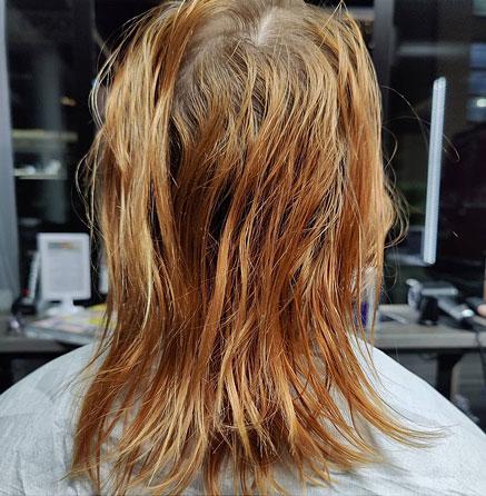 Ennen hiustuuhennusten laittamista